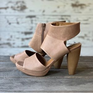 "Tan ""Fire"" Soft Leather Heels"